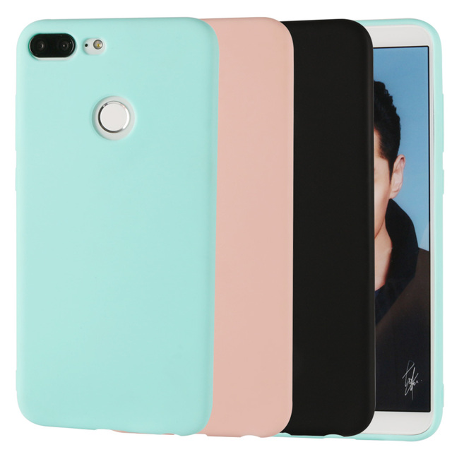 best service d1c61 2b837 US $0.98 51% OFF|Silicone Case For Huawei P Smart Honor 9 Lite Matte Girls  Phone Bag Case Cover Coque Ultra Thin Candy Color For Huawei P Smart-in ...