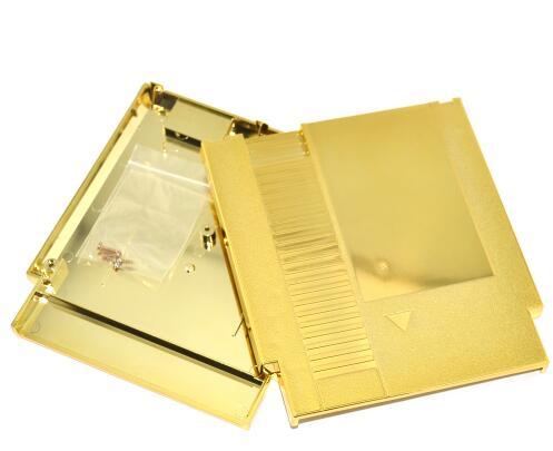 Купить с кэшбэком Golden Color Metal Plating 72 Pins NES Game Cartridge Replacement Plastic Shell For NES