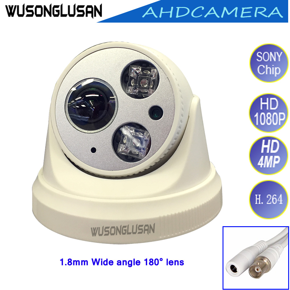 New Arrival 180 Degrees Wide Angle 1.8mm lens AHD Dome Camera 1080P 960P 720P 4MP CCTV Home Indoor Use security Surveillance Cam