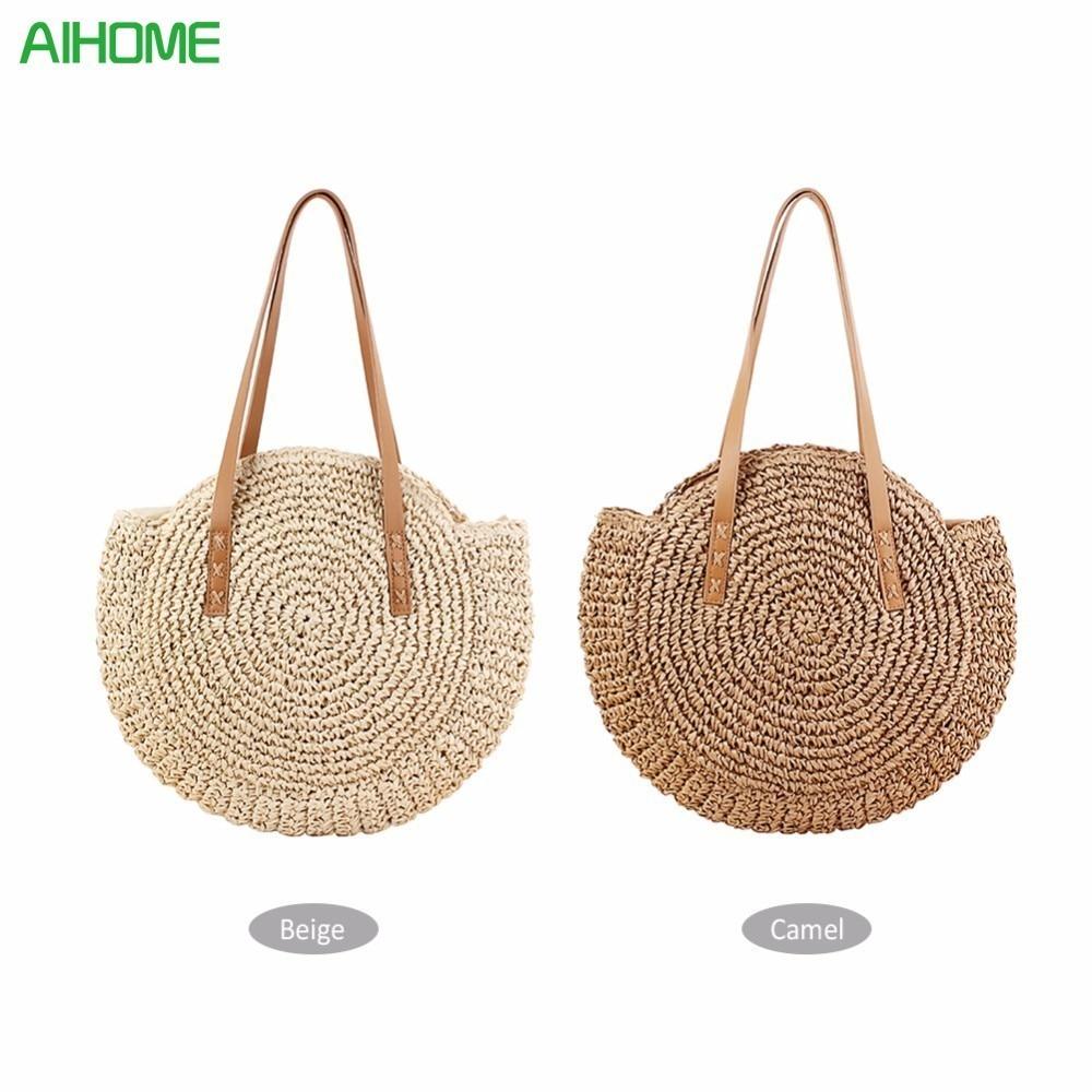 Multi patrones verano hueco hecho a mano de bambú cesta ambiental ...