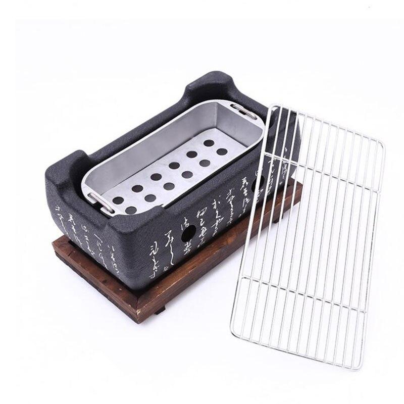 Stile giapponese Barbecue Grill Per 2-4 Persone Griglia A Carbone In Lega di Alluminio Del Partito Accessori Attrezzi Barbecue Portatile