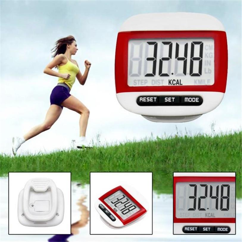 LCD Digital Step Pedometer Walking Calorie Counter Distance Kør Bælteklem Ny Udendørs Sport Cykel Cykling Tilbehør WS & 40