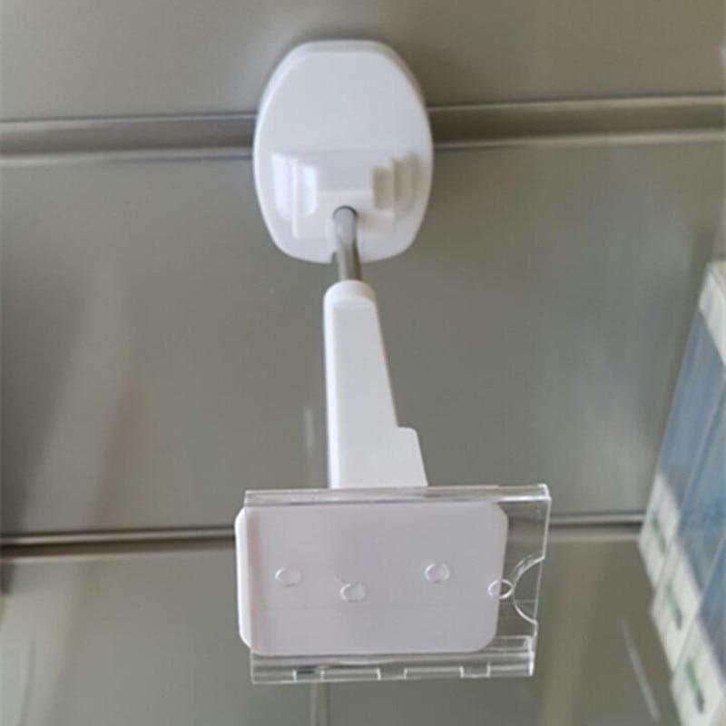 (52 ks / balení) obchod supermarket dodávky bílá barva 7 palcová slatwall magnetické lockpick bezpečnostní háky displeje