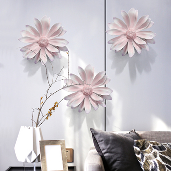 Simple living room sofa background wall model between the light luxury 3D resin three-dimensional flower wall decoration hanging