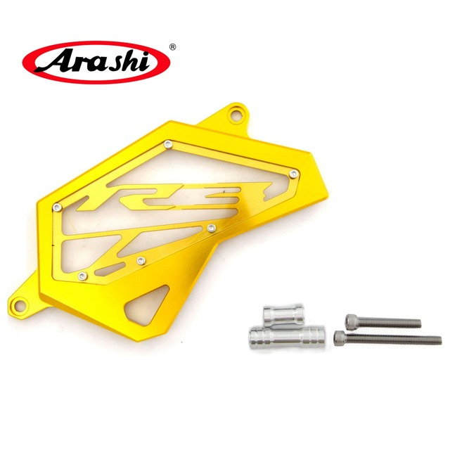Arashi For YAMAHA YZF R3 / R25 2014 2015 2016 Motorcycle accessories Front Sprocket Guard Chain Cover Left Side Engine Protector