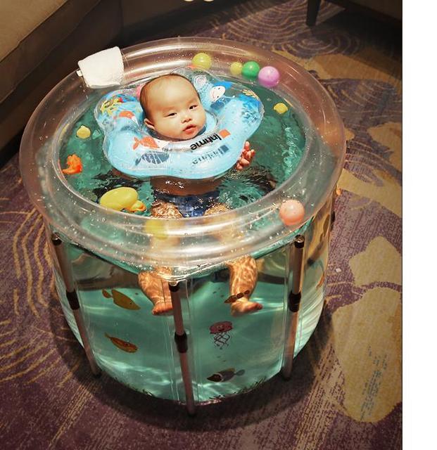 Bañeras de bebé bañera inflable seguridad PVC engrosamiento lavabos bañera de baño portátil para chico pequeños recién nacidos de cuatro tamaños