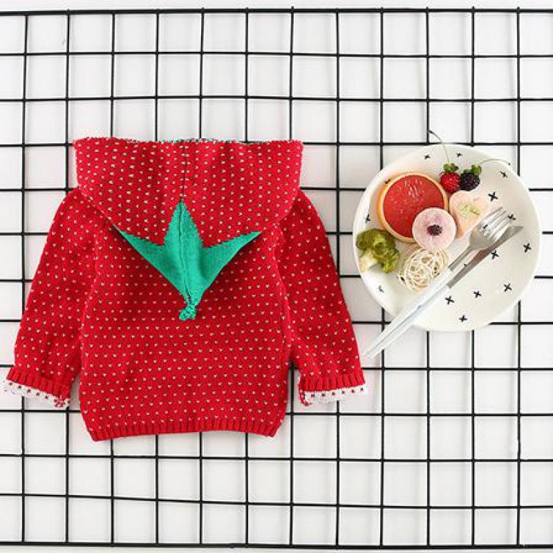Корейская куртка для девочек клубника красная Hoodie купить за 2018 Одежда для девочек футболка для маленьких мальчиков Одежда для девочек курт...