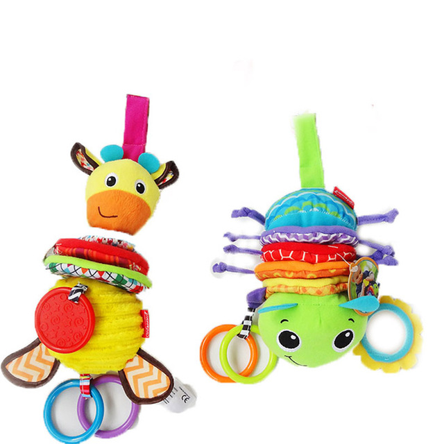 Baby Dolls Infant Mobility On The Bed Musical Toys Cartoon Soft Cute Rattles For Stroller Hanging Toy -- DBYC090 P49