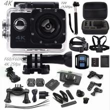 "Cámara de acción F60R/F60 2.0 ""4 K 1080 P HD wifi deporte cámara impermeable 30 m ir cámara pro estilo + batería extra mini Pro leva de la cámara"