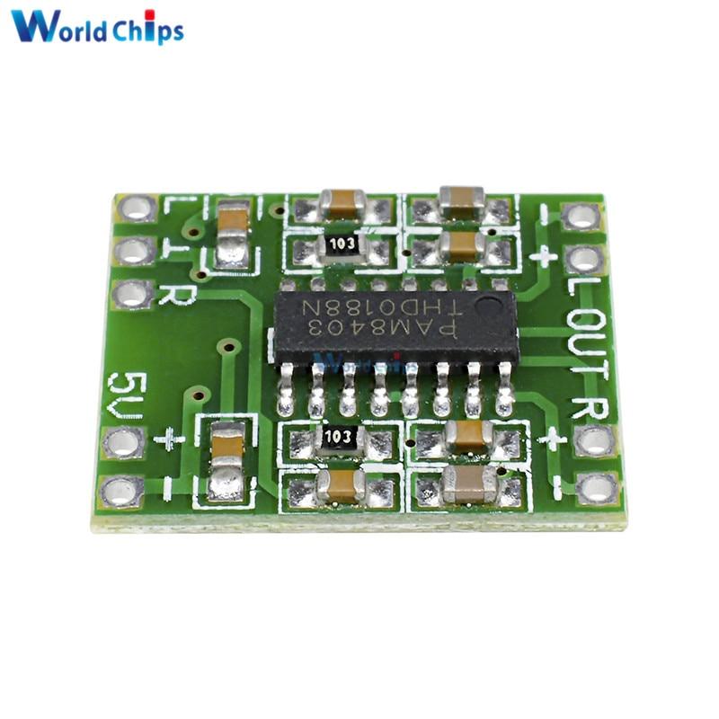 2PCS Digital Amplifier Board Class D 2*3W USB Power Mini PAM8403 Audio Module
