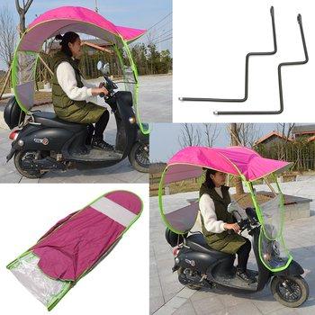 2 8*0 8*0 7M motocykl skuter osłona przeciwdeszczowa motocykl elektryczny parasol przeciwsłoneczny pojazd parasol płaszcz przeciwdeszczowy Poncho pokrywa schronisko tanie i dobre opinie polyester 1 1KG 2 8*0 8*0 75m Motorbike Scooter pink