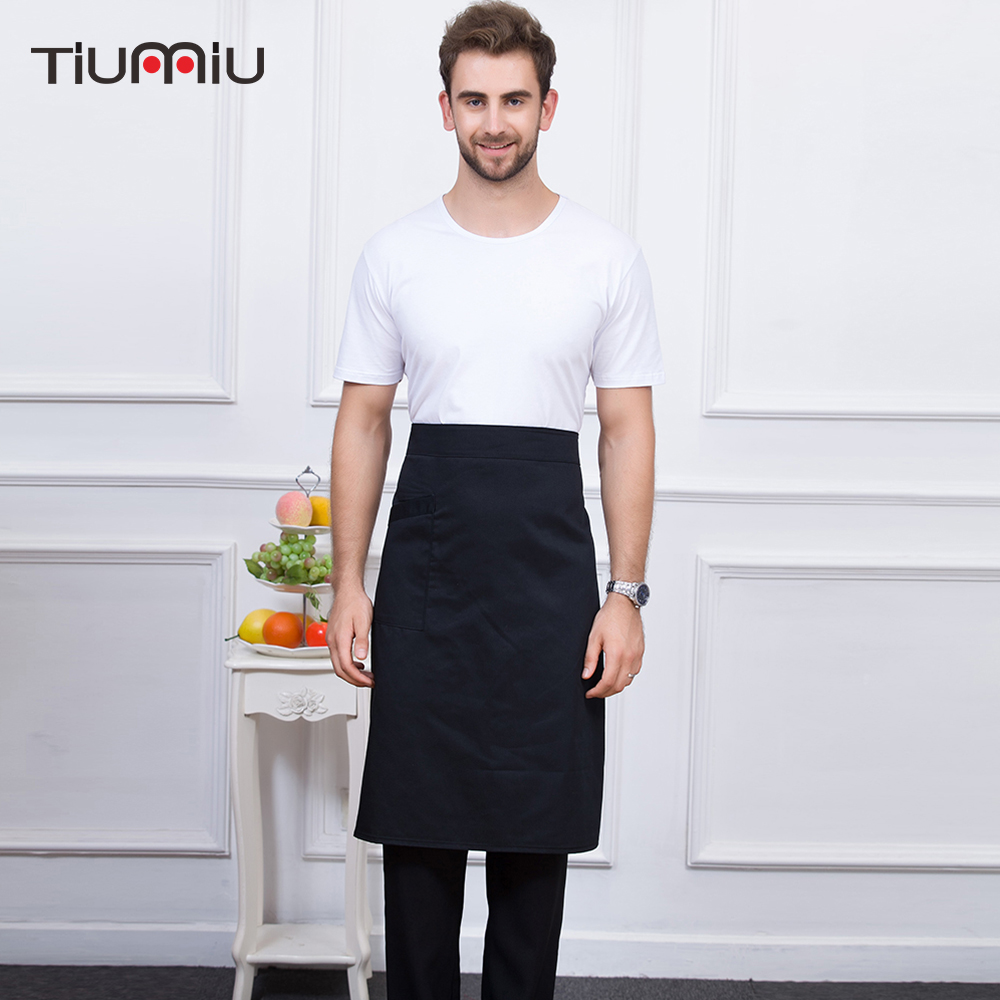 Multicolor Unisex Kitchen Coffee Shop Bakery Chef Waiter Cooking Work Wear Food Service Aprons With One Pocket High Quality