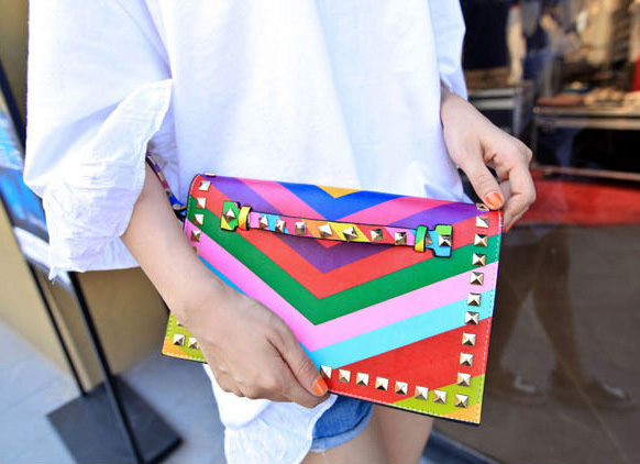 Rivet Wome Clutches Bags Crossbody For Designer Brand Envelope Bags Woman Bags wristlet clutch Handbags Women day clutches Chain
