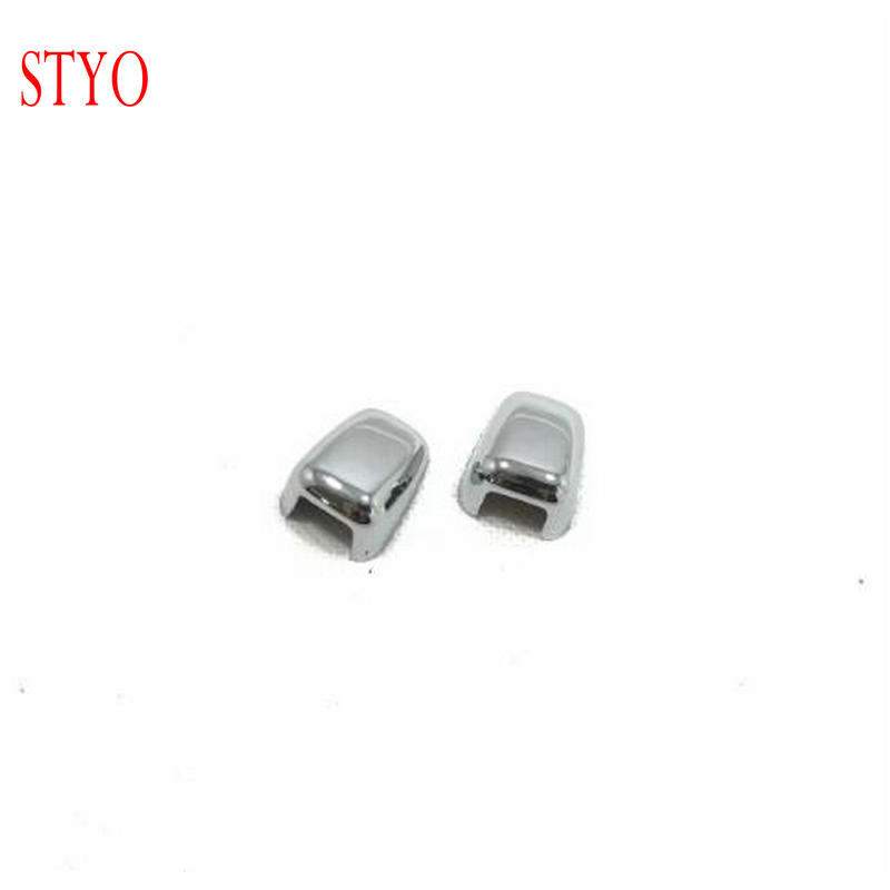 STYO ABS Chrome Windshield Washer Nozzle Caps Cover Sticker Trim For Jeep Grand Cherokee 2014-2018 2015 2016 2017 image
