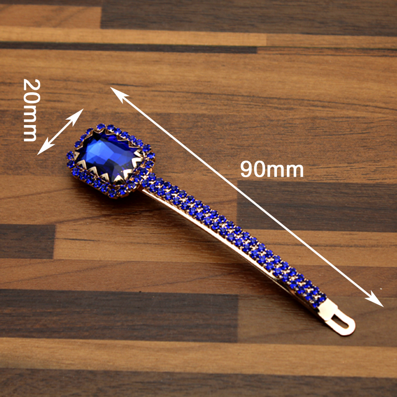 1Pair FirstStar Luxury Bling Hot Pink And Royal Blue Crystal Hair Slide  Diamante Rhinestone Hair Barrette Clip For Women Jewelry-in Hair Jewelry  from ... 838b008403d7
