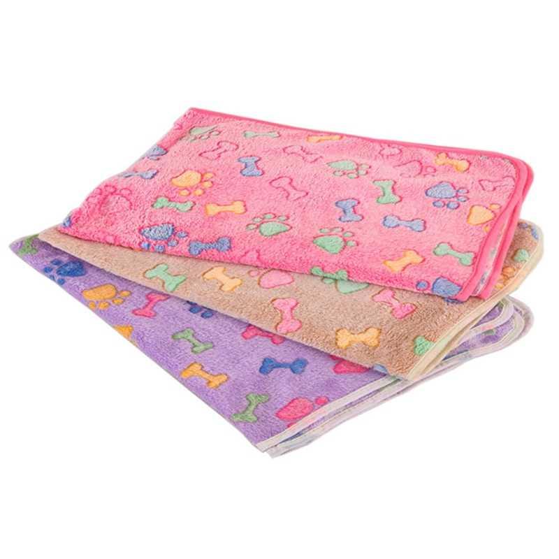 Мягкая фланелевая флисовая кровать для собак с принтом звезды, теплое одеяло для сна, покрывало для кровати, коврик для маленьких средних собак, кошек