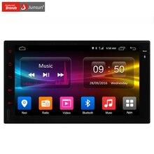 Junsun 2 Din Car DVD Player Vedio 7 polegada Android 6.0 GPS de Navegação 4G Rede Universal para golf 1024*600 2G RAM Livre mapa