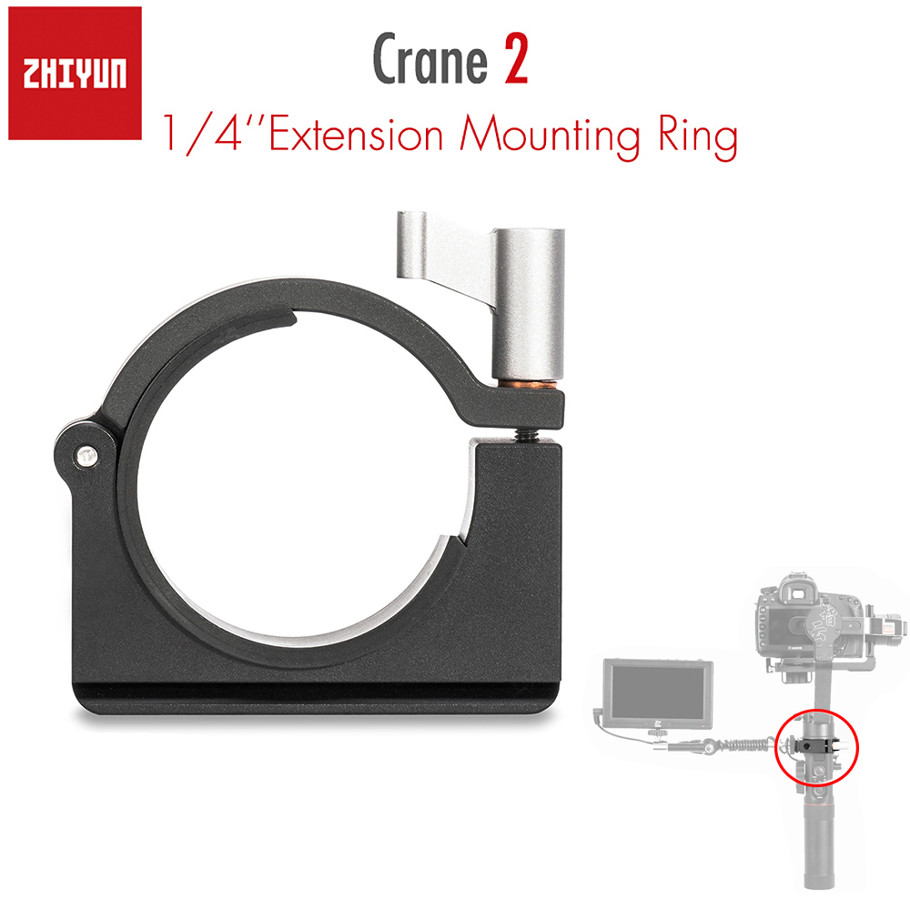 Zhiyun oficial extensión anillo de montaje con tres agujeros de tornillo de 1/4 pulgadas para Zhiyun Crane 2 grúa más V2 estabilizador