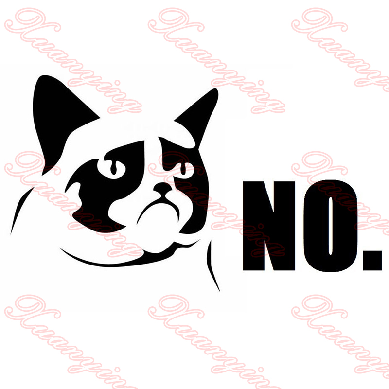 Grumpy Cat Rear Window Decals PromotionShop For Promotional - Funny decal stickers for carseuro car promotionshop for promotional euro car on aliexpresscom