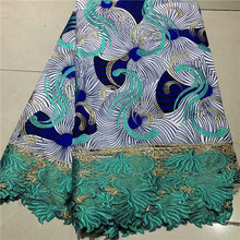 Elegant party apparel wax textile African veritable print ankara wax cord  lace fabric for evening dress 1290e4beff8b