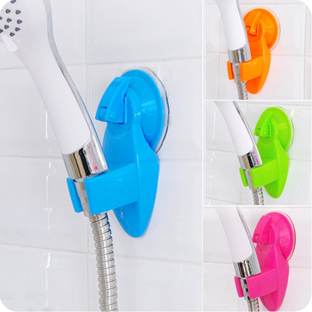 Detachable Shower Base Strong Suction Cup Shower Head Holder Rack Bracket Practical Shower Nozzle Stand Bathroom Accessories