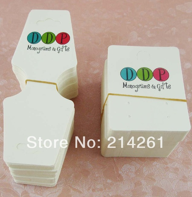 Whole Free Shipping Moq 1000sets Jewelry Card Custom Logo Earring Necklace