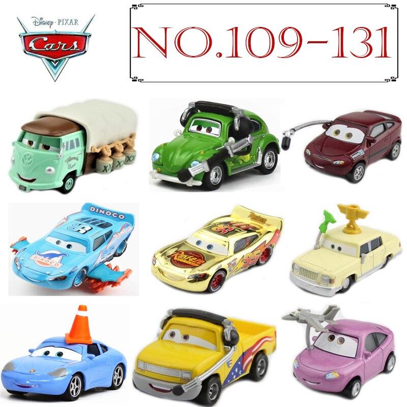 No.109-135 Disney Pixar Cars 3 2 métal moulé sous pression voitures Disney McQueen 1:55 moulé sous pression Rare collection enfant jouets pour enfants garçons cadeau