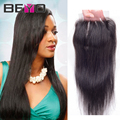 Brazilian Straight Lace Closure 4x4 Brazilian Virgin Hair Closure Straight Human Hair Lace Closure With Baby Hair Free/2/3 Part