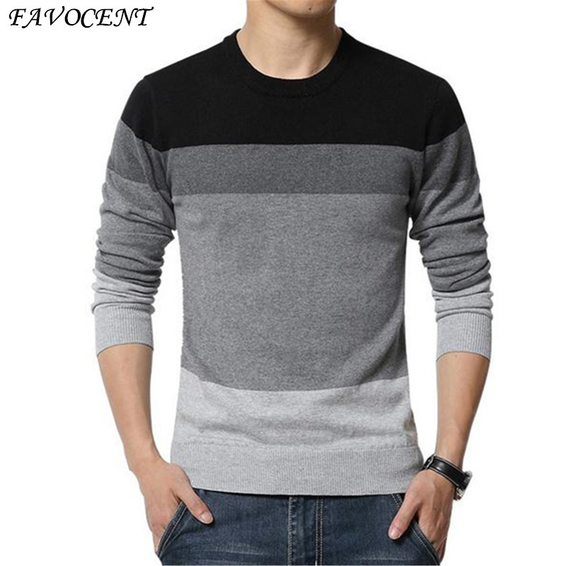2018 New Autumn Fashion Brand Casual Sweater O-Neck Striped Slim Fit Knitting Mens Sweaters And Pullovers Men Pullover Men M-5XL