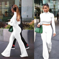 Fall Women Ladies Sexy Clubwear Playsuit Bodycon Party Jumpsuit Knitted Sweater Outfits Shirt Pants