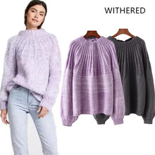 Withered 2018 BTS women sweater england style hollow out drawstring  pullovers solid regular sweater women tops 0404b76a4103