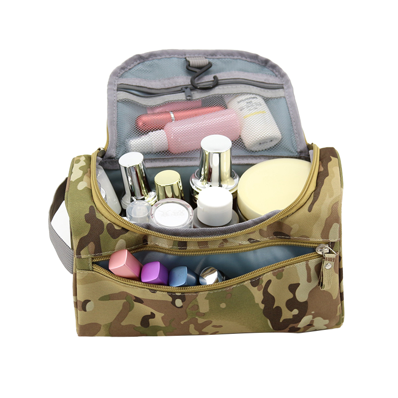 Wulekue Casual ArmyGreen Men Travel Camouflage Cosmetic Bag Zipper Make Up Case Organizer Pouch Toiletry Makeup Wash Bags new travel men organizer cosmetic bags daily essential portable hook make up pouch brand multifunctional woman toiletry bag case