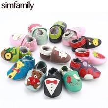 [Simfamily] для новорожденных мальчиков и девочек; мягкая нескользящая обувь из натуральной кожи для малышей; мокасины для малышей; нескользящая обувь с героями мультфильмов для детей 0-24 месяцев