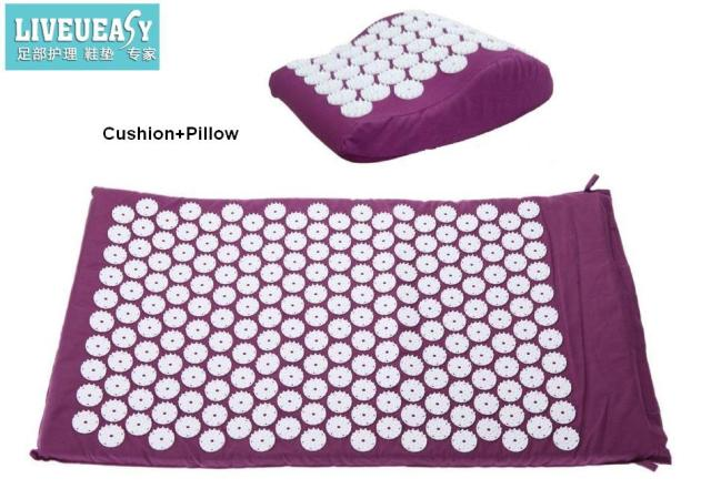 2pcs(Cushion+Pollow)Yoga acupuncture massage cushion mattress massage cushion 1pc free shipping