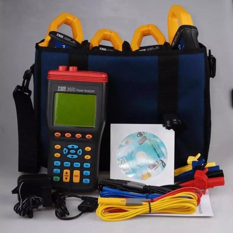 TES 3600 Power Quality Analyzer Harmonics Power Quality Analyzer 3 Phase Power Analyzer