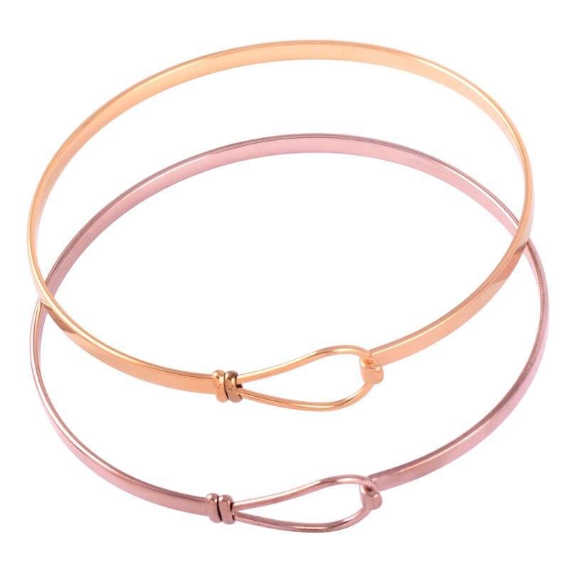 IJB0398 le meilleur cadeau pour les femmes et les filles, Bracelets en fil extensible en acier inoxydable argent/or/or rose peuvent ouvrir des Bracelets de manchetteIJB0398 le meilleur cadeau pour les femmes et les filles, Bracelets en fil extensible en acier inoxydable argent/or/or rose peuvent ouvrir des Bracelets de manchette