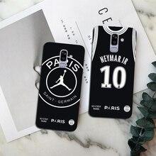 318ef1c9a55 PSG Football Jersey Jordan 23 Mbappe 7 Neymar 10 soft TPU Phone Cases For  Samsung Galaxy