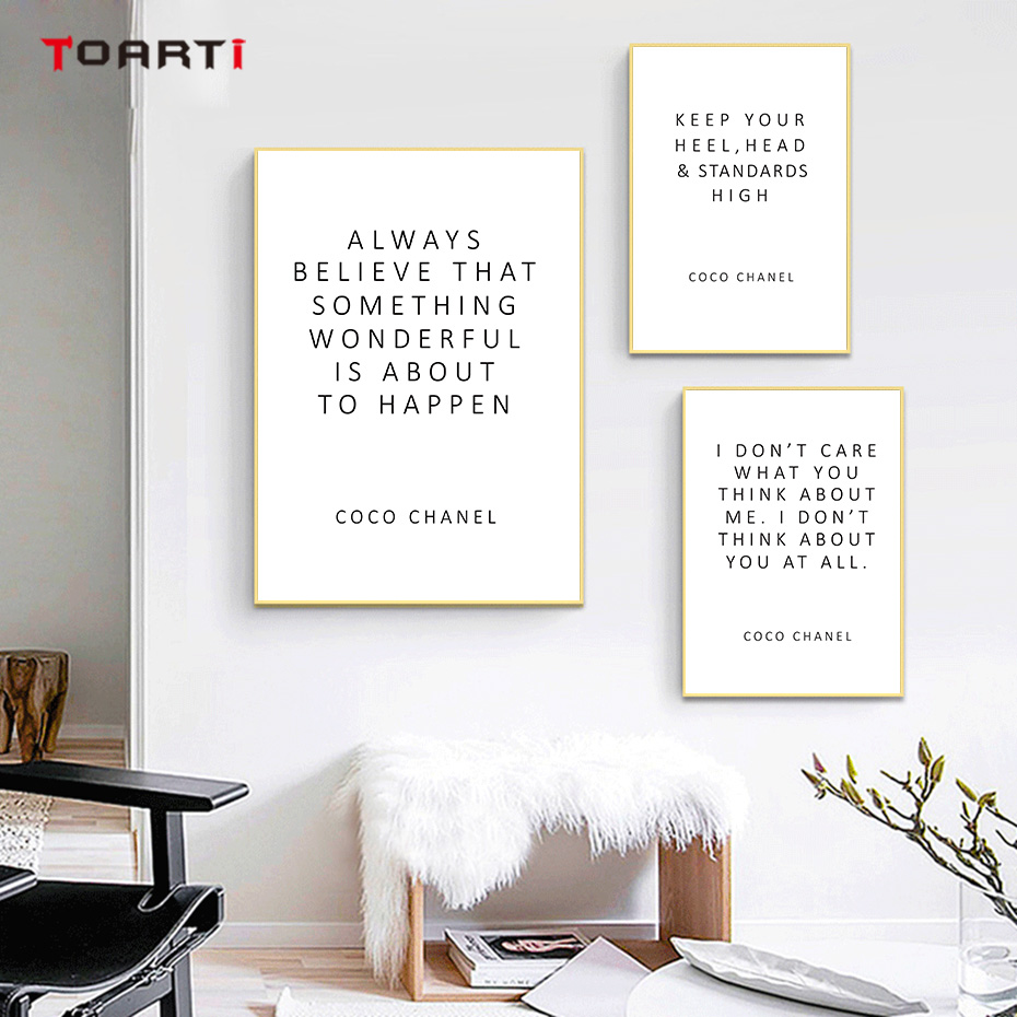 CoCo Motivational Quotes Posters Prints Always Believe That Inspirational Letters Canvas Painting For Women Bedroom Home Decor (4)