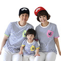 2017 new children Navy family installed a family of three femelle ladies summer cotton T-shirt short sleeve