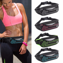 Mini Fanny Pack Workout Belt Waterproof Sports Waist Pack Belt Pouch Portable Convenient USB Phone Bag Travel Running Walking(China)