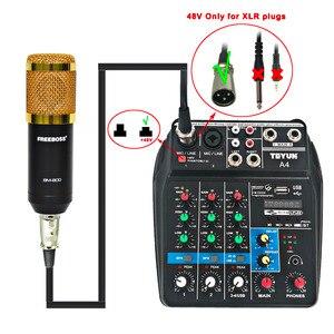 Image 5 - A4 48 В фантомное питание 2 моно 1 стерео USB воспроизведение USB Запись компьютерное воспроизведение компьютер запись Bluetooth мини аудио микшер