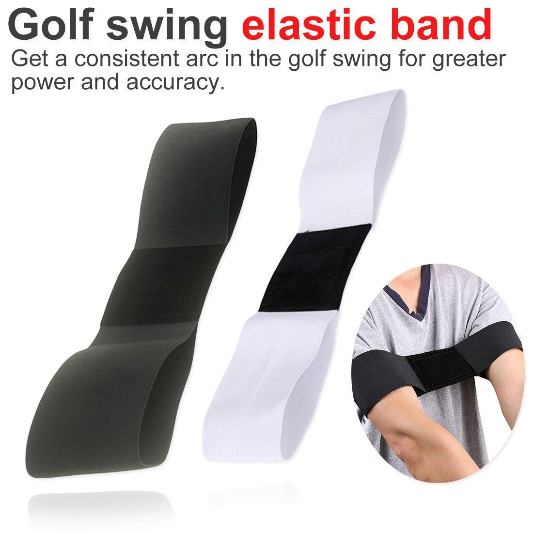 Outdoor Sports Protective Gear Golf Swing Elastic Band Elastic Nylon Golf Arm Posture Movement Correction Belt Golf Training
