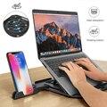 Ajuste de altura portátil dobrável suporte para macbook lenovo 360 graus de rotação inferior notebook almofada resfriamento suporte do telefone
