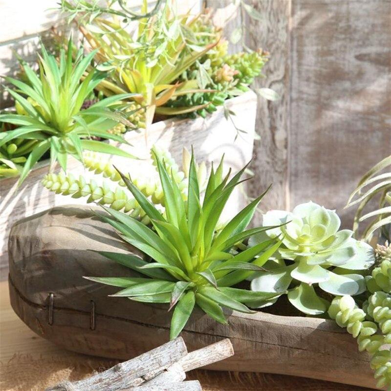 Искусственный Пластик миниатюрные суккуленты завод Echeveria цветок трава Home Decor износостойкие творческий горячая распродажа C0418 #30