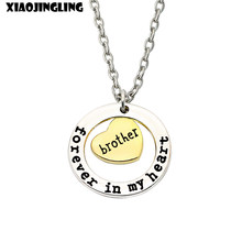 XIAOJINGLING Brother Sister Necklaces Family Gift Jewelry Fashion Charming Women Men Pendant Necklace Accessories Birthday Gift(China)