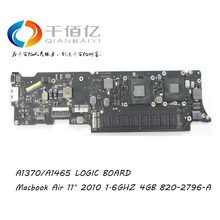 Sale A1370 1370 Laptop Replacement Logic Board for Apple MacBook Air 11″ Mid 2010 1.6GHz 4GB RAM 820-2796-A 820 2796 A 661-5796