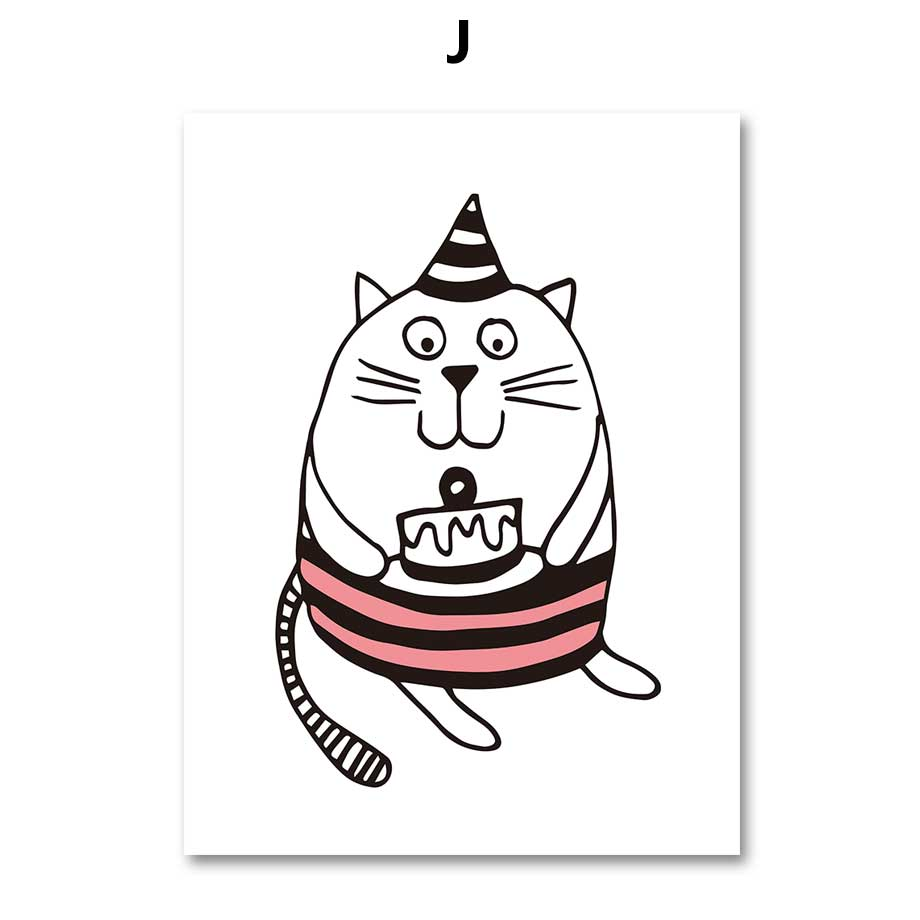 online shop cute cats canvas painting for kids room minimalism