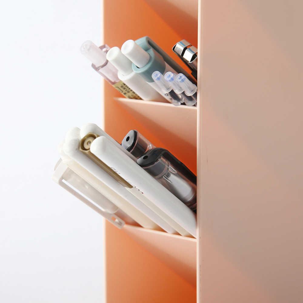 Multi Fungsional Desktop Organizer Plastik Makeup Organizer Kosmetik Penyimpanan Rumah Kantor Desktop Serba-serbi Kotak Penyimpanan Perhiasan