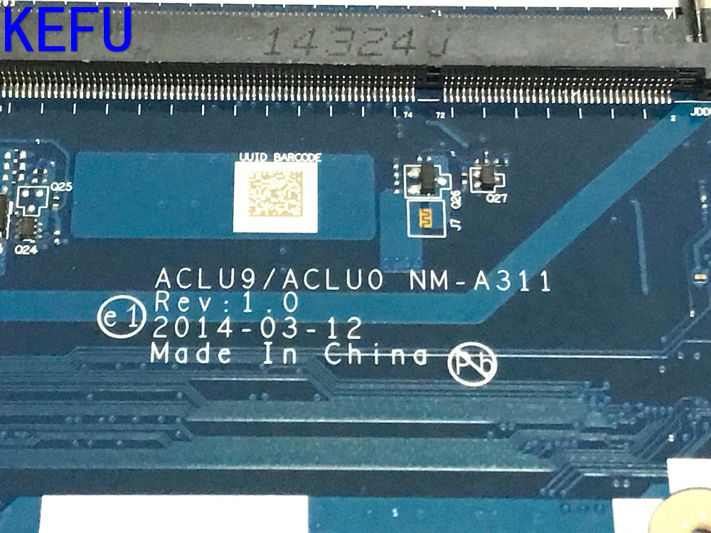 цена на KEFU 100% NEW  ACLU9/ ACLU0 NM-A311 MAINBOARD Laptop motherboard for Lenovo G50-30 Notebook pc COMPARE PLEASE WITH PROCESSOR