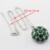 Rodada Imitado Verde Esmeralda Cor Prata Natal & Halloween Mulheres Conjuntos de Jóias Colar Pingente Brincos Anéis Pulseira